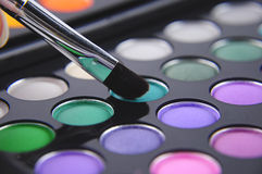 Make up tools. Eye brushes in some of colors Royalty Free Stock Image