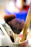 Make-up tools and brushes Royalty Free Stock Photography