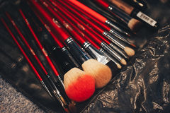 Make Up Tools Close Up Stock Photo