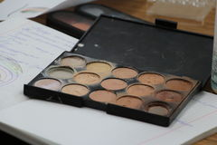 Make-up training Royalty Free Stock Image