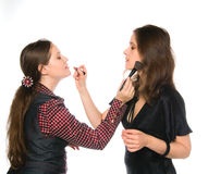 Make-up Tutorial Stock Photo