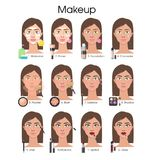 Make up tutorial. Stock Photography