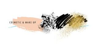 Make-up und Kosmetikanschläge Stockfotografie