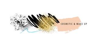 Make-up und Kosmetikanschläge Lizenzfreie Stockfotos