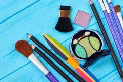 Make-up und Manikürezubehör Stockbild