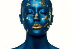 Make-up van schoonheids de Vreemde Halloween Royalty-vrije Stock Afbeeldingen