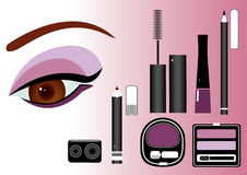 Make up.Vector cosmetics for eyeses Stock Photo