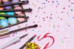 Make-up voor feestelijke partij stock foto
