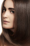 Make-up, wellness. Beautiful model with long hair Stock Image