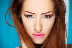Make up on woman Royalty Free Stock Photo