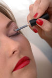 Make up for woman eyelid Stock Images