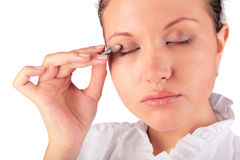 Make up. woman eyelid Stock Photography