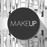 Make-up and womens cosmetics Stock Images