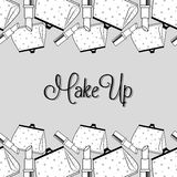 Make-up and womens cosmetics Royalty Free Stock Photos