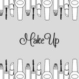 Make-up and womens cosmetics Stock Photography