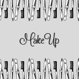 Make-up and womens cosmetics Royalty Free Stock Image