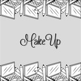 Make-up and womens cosmetics Royalty Free Stock Photography