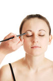 Make-up for the young girl Royalty Free Stock Photos
