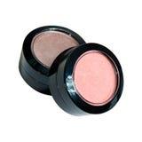 Make-upausrüstung lokalisiert auf Weiß Lizenzfreie Stockbilder