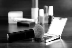 Make-upbürste stockfotografie