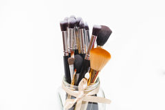 Make-upbürste Stockbilder
