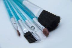 Make-upbürsten lizenzfreies stockfoto