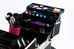 Make-upbürsten und -werkzeuge Stockbild