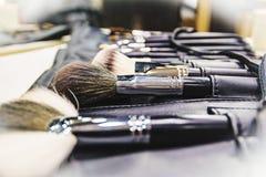 Make-upbürstensatz Lizenzfreie Stockfotos