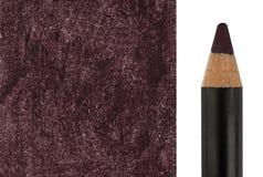 Make-upbleistift mit Beispielanschlag Stockbild