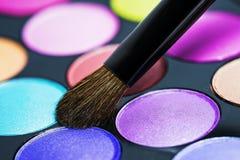 Make-upborstel Royalty-vrije Stock Afbeeldingen