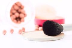 Make-upborstel Royalty-vrije Stock Foto's