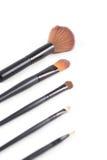 Make-upborstel op witte achtergrond Royalty-vrije Stock Foto's