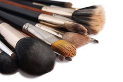 Make-upborstels Royalty-vrije Stock Foto's