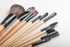 Make-upborstels royalty-vrije stock afbeeldingen
