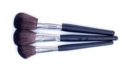 Make-upborstels op een achtergrond Royalty-vrije Stock Fotografie