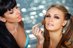 Make-upkünstler Lizenzfreies Stockfoto