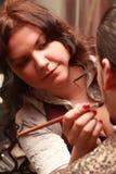 Make-upkünstler Stockbild