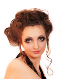 Make-upmädchen lizenzfreie stockbilder