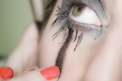 Make-upogen, feesten zij speler Royalty-vrije Stock Fotografie