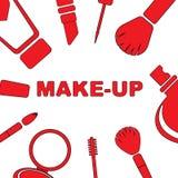 Make-upsatz Kosmetik Stockfoto