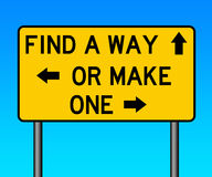 Make a way. Finding a way or making one Stock Photography