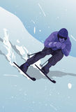 Make Way For The Skier Royalty Free Stock Photography