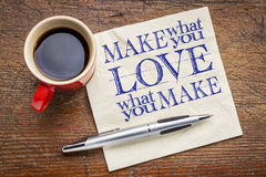Make what you love note Royalty Free Stock Photo