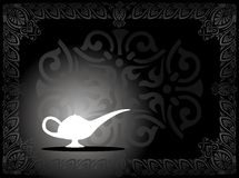 Make A Wish. Illustration of a magic lamp Stock Images