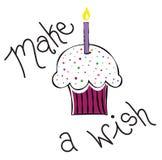Make a Wish Cupcake Stock Photo