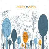 Make a Wish Good Day Royalty Free Stock Photography