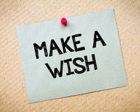 Make a Wish Message Royalty Free Stock Photo
