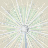 Make a Wish Starbust Firework Dandelion. Close up of dandelion abstract flower / firework background with starburst Royalty Free Stock Image