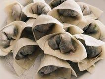 Make wonton. Raw wonton on dish, chinese traditional food royalty free stock photos