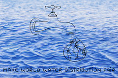 Make world water distribution fair Stock Photos